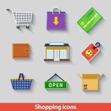 Couleur d'icônes d'achats Photos libres de droits