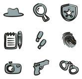 Couleur d'Icons Freehand 2 de détective Photo stock