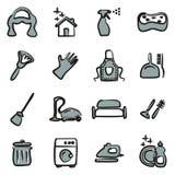 Couleur d'Icons Freehand 2 de domestique Image libre de droits