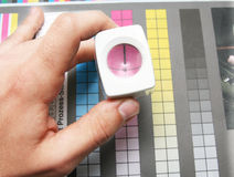 Couleur d'impression de CMYK Photo libre de droits