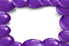 couleur d'inviolet d'oeuf de 3d pâques Photos stock
