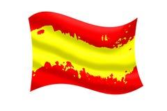 Couleur d'ondulation espagnole de drapeau illustration libre de droits