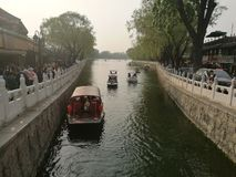 Couleur de bateaux de Hou Hai Lake Beijing photo stock
