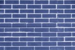 Couleur de bleu de mur de briques Texture géométrique lumineuse photographie stock libre de droits