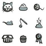 Couleur de Cat Icons Freehand 2 Photo stock
