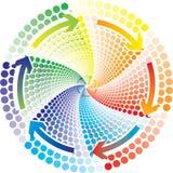 couleur de cercle Photographie stock libre de droits