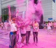 Couleur de Chongqing Exhibition Center courue dans les jeunes Photographie stock libre de droits