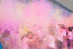 Couleur de Chongqing Exhibition Center courue dans les jeunes Images libres de droits