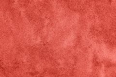 Couleur de corail vivante de l'année 2019 Texture de sable de mer humide côtier images stock