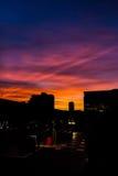 Couleur de coucher du soleil Photographie stock