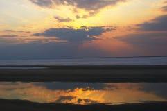 Couleur de coucher du soleil Image libre de droits