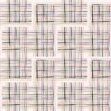 Couleur de crème de Criss Cross Weave Hand Drawn illustration stock