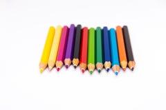 Couleur de crayon sur le fond blanc Photo stock