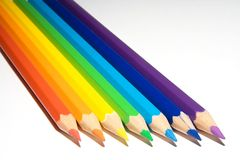Couleur de crayons Photos libres de droits
