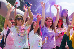 Couleur de festival courue à Kiev Photo libre de droits