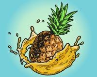Couleur de jus d'ananas Images libres de droits