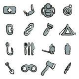 Couleur de Kit Icons Freehand 2 de survie Images stock