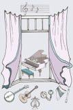 Couleur de la fenêtre music2 Photographie stock libre de droits