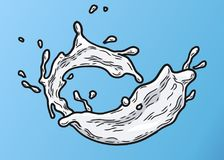 Couleur 1 de lait d'éclaboussure illustration libre de droits