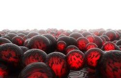 couleur de lave des boules 3d illustration stock