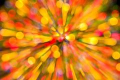 Couleur de lumières abstraite de fond de Noël Santa Photographie stock libre de droits