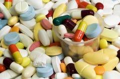 Couleur de médecine Image libre de droits