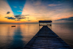 Couleur de matin de Sabah, Malaisie Image libre de droits