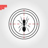 Couleur de noir d'icône de fourmi en cercle Ant Design noir abstrait Illustration de vecteur d'une fourmi noire de silhouette Bac illustration de vecteur