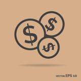 Couleur de noir d'icône d'ensemble d'argent de paquet Photographie stock libre de droits