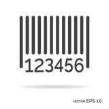 Couleur de noir d'icône d'ensemble de code barres Photo libre de droits