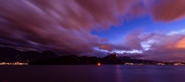 Couleur de nuit Nuit abstraite en Suisse photos libres de droits