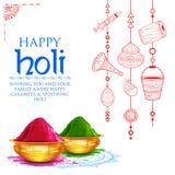 Couleur de poudre gulal pour le fond heureux de Holi illustration stock