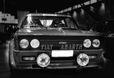 Couleur de rassemblement d'abart de Fiat 131 bleue Photographie stock libre de droits