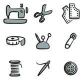 Couleur de Shop Icons Freehand 2 de tailleur Photos libres de droits