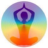 Couleur de yoga Photographie stock libre de droits