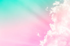 Couleur douce de fond de nuage Photo stock