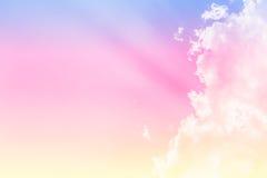 Couleur douce de fond de nuage Photographie stock libre de droits