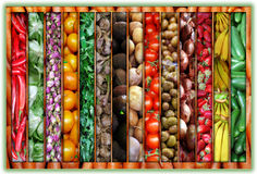Couleur du collage du marché Photos stock