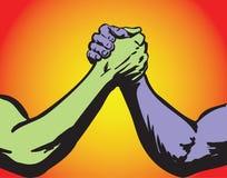 Couleur du combat deux illustration libre de droits