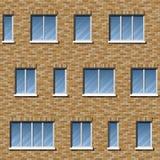 Couleur du modèle 2 de façade de brique Images stock