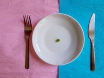 Couleur en pastel minimale de concept de construction de temps de petit déjeuner Photos stock