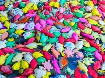 Couleur en plastique de poissons de couleur de jouet de pêche Images stock