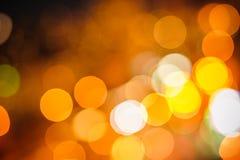 Couleur filtrée par lumières de nuit de ville image stock