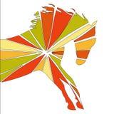 Couleur fine de silhouette de cheval illustration de vecteur