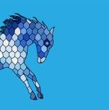 Couleur fine de silhouette de vecteur de cheval illustration stock