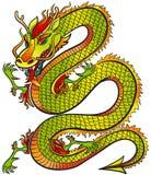 Couleur grande de dragon illustration libre de droits