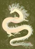 Couleur grande de dragon. Illustration du Dr. chinois Photographie stock libre de droits