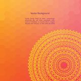 Couleur Henna Mandala Background Images stock