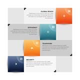 Couleur Infographic carré Photographie stock