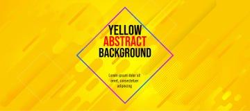 Couleur jaune de bannière d'amusement d'abrégé sur moderne couleur photographie stock libre de droits